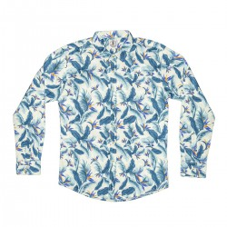 CAMISA DISEÑO BLUE TROPICAL