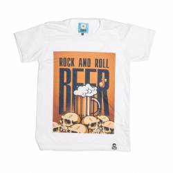 CAMISETA DE DISEÑO UMAMI LINE ROCK AND ROLL BEER
