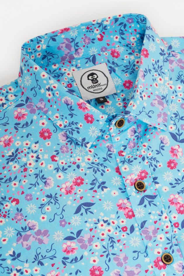 ADULT'S PRINTED SHIRT PINK LITTLE FLOWERS