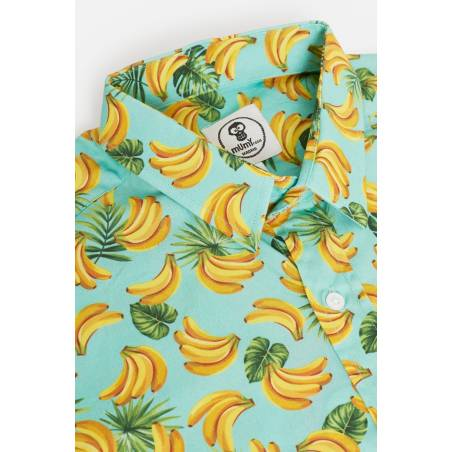 ADULT'S PRINTED BANANAS IN GREEN