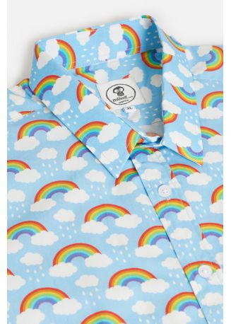 CAMISA DE DISEÑO UMAMI LINE OVER THE RAINBOW