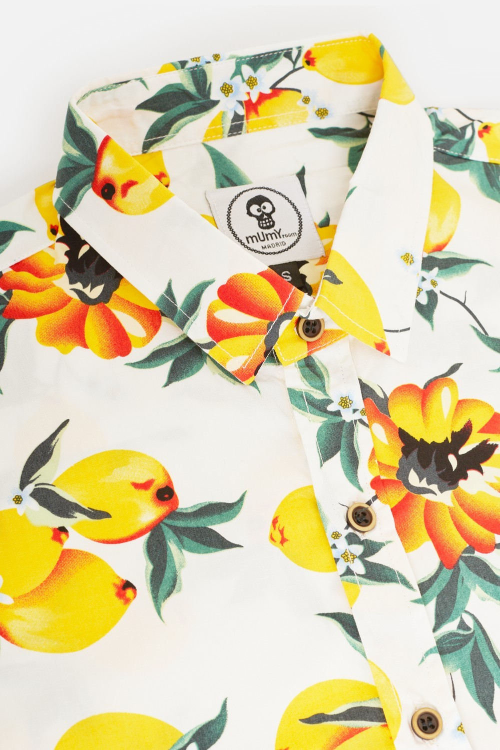 ADULT'S PRINTED SHIRT LEMONS IN WHITE