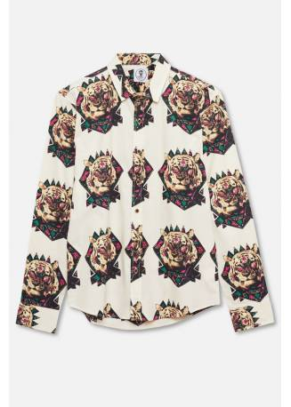 ADULT´S PRINTED SHIRT ETHNIC TIGER