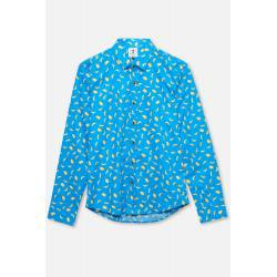ADULT´S PRINTED SHIRT BANANAS IN LIGHT BLUE