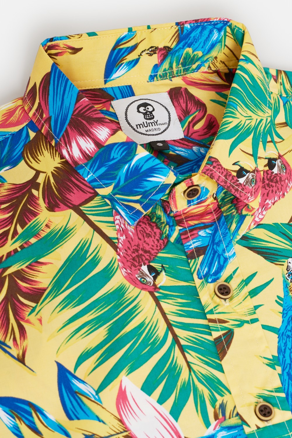 ADULT´S PRINTED SHIRT GUACAMAYAS IN YELLOW