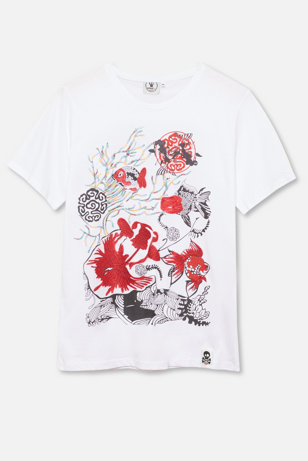 ADULT´S EMBROIDERED T-SHIRT UMAMI CORAL FISHES