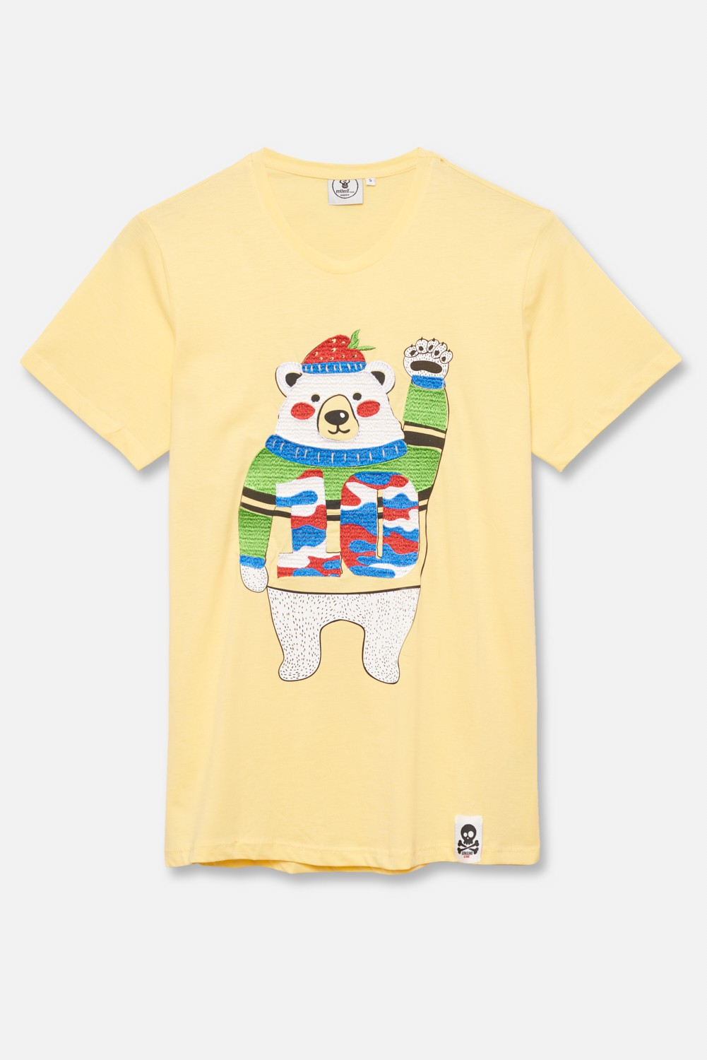 ADULT´S EMBROIDERED T-SHIRT UMAMI BEAR IN JERSEY