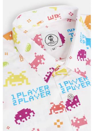 ADULT´S PRINTED SHIRT UMAMI LINE GAME OVER