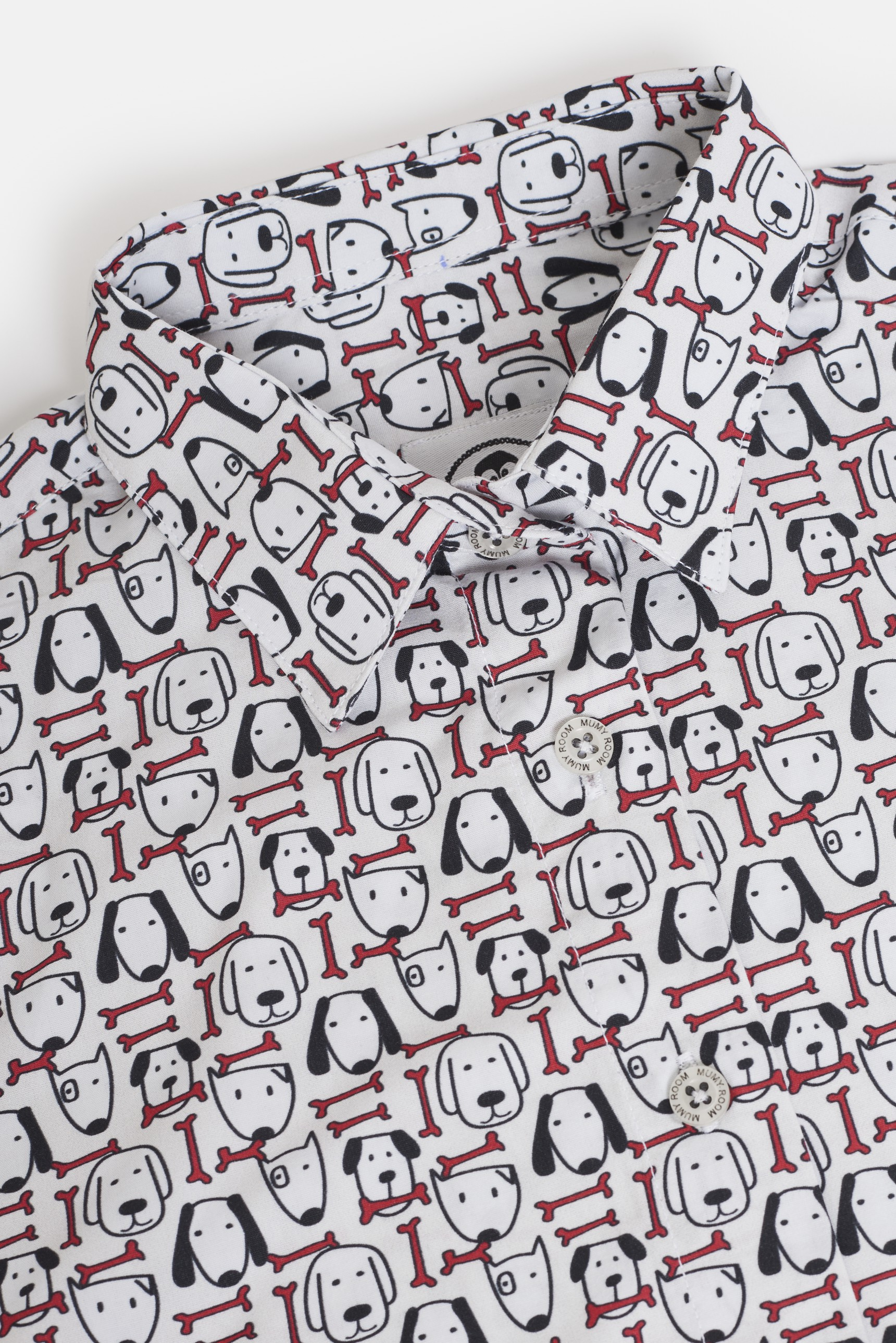 WOMEN'S PRINTED SHIRT UMAMI LINE RED BONE DOG