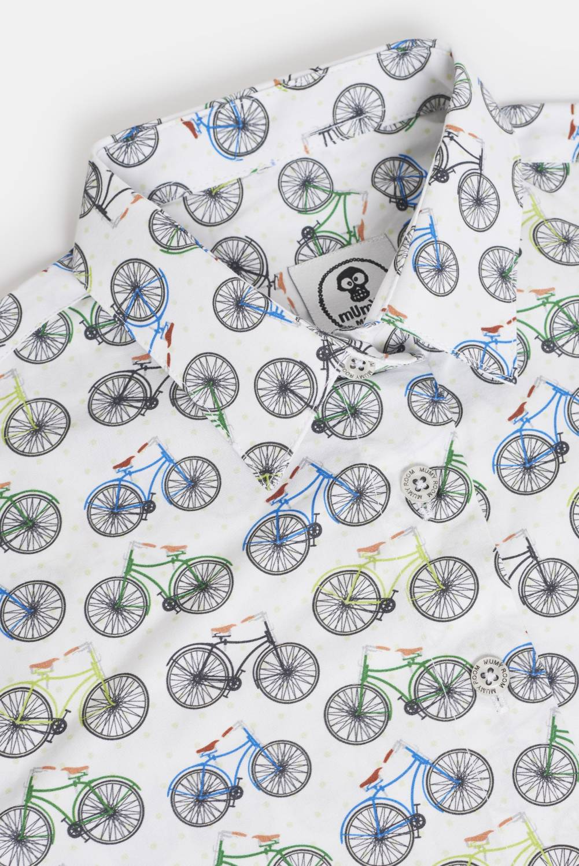 WOMEN´S PRINTED SHIRT UMAMI LINE RETRO BICYCLES