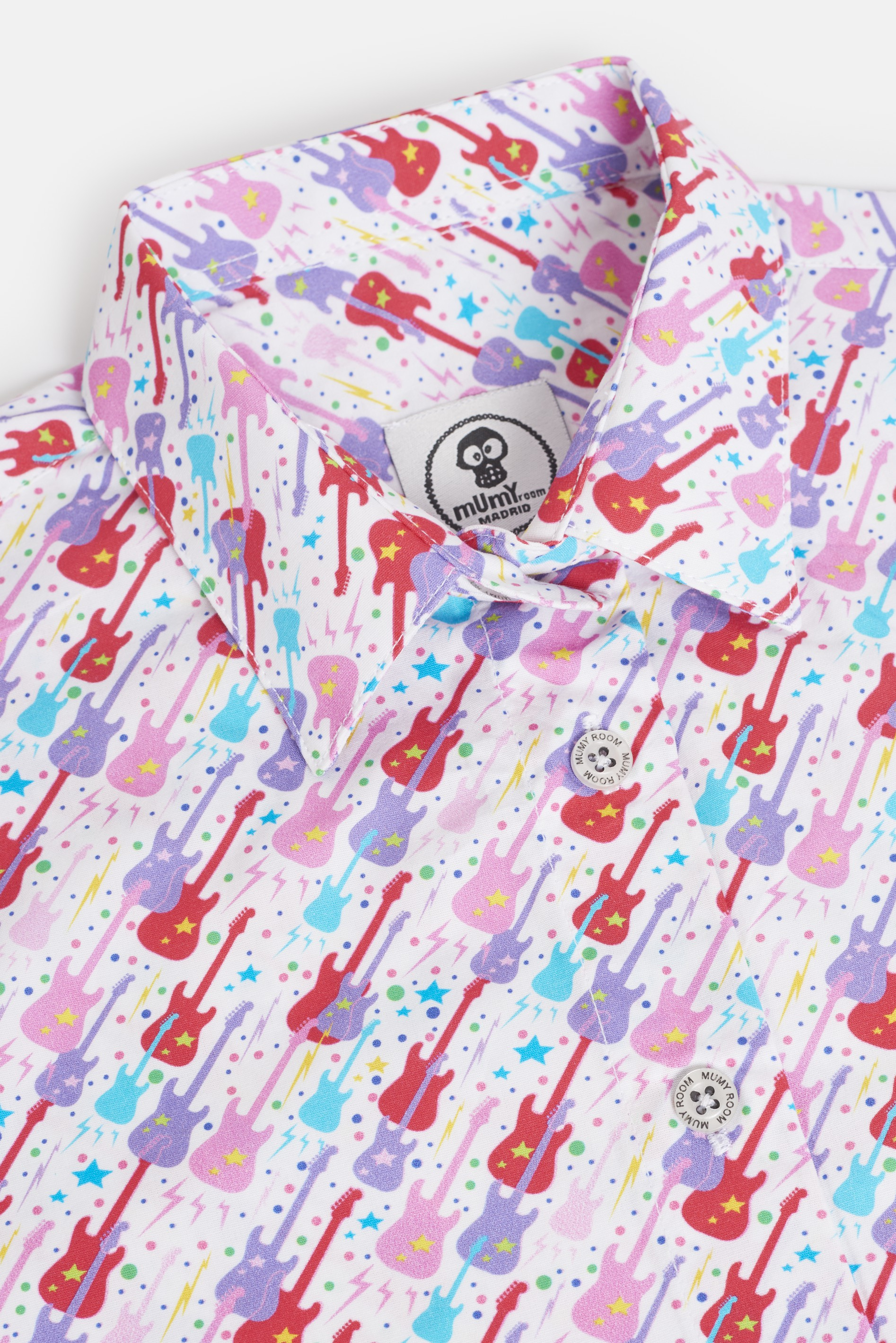 WOMEN'S PRINTED SHIRT UMAMI LINE GUITARS COLORS