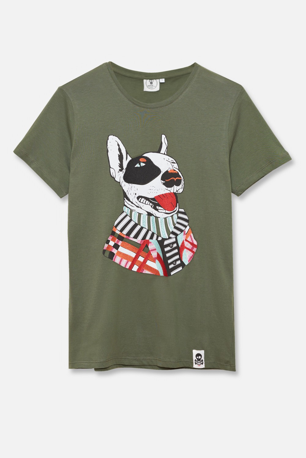 ADULT´S EMBROIDERED T-SHIRT UMAMI LINE SNUG TERRIER