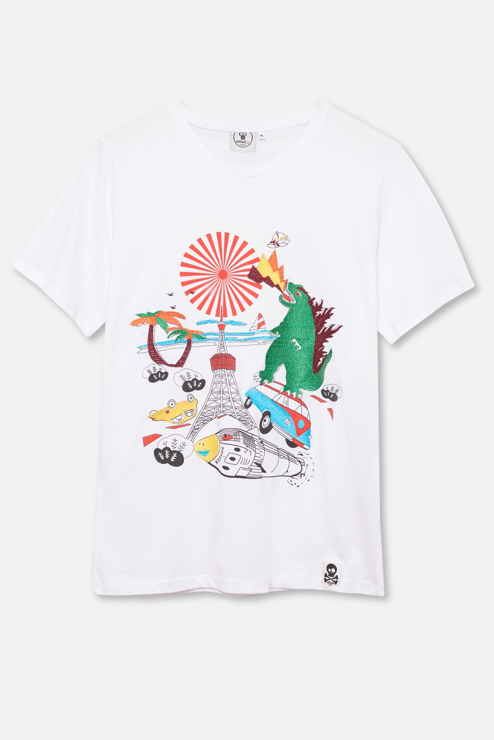 ADULT´S EMBROIDERED T-SHIRT UMAMI GODZILLA FUEGO
