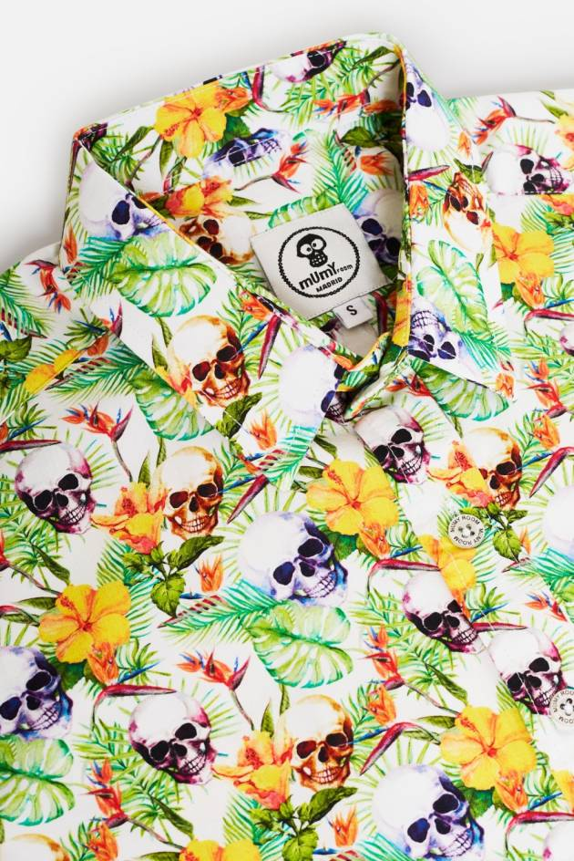 CAMISA ESTAMPADA ROCKER ESCONDITE SKULL