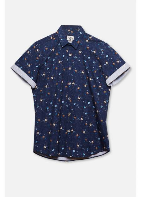 CAMISA ESTAMPADA FLOR DENIM