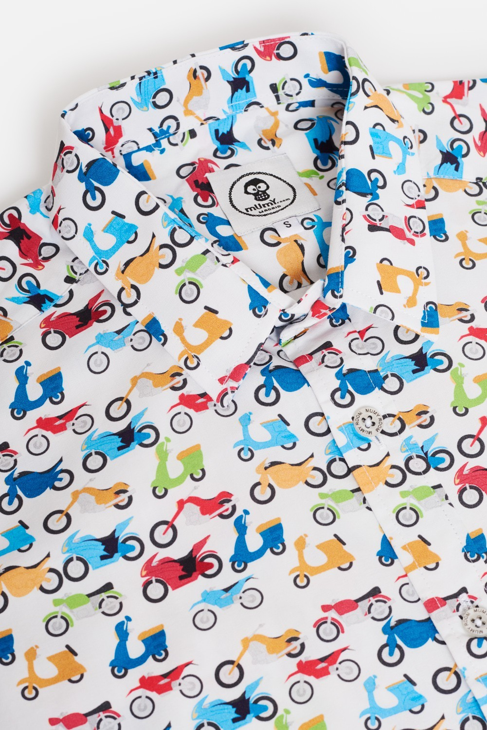 CAMISA ESTAMPADA UMAMI MOTOS COLORES