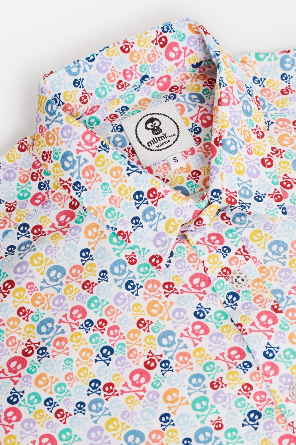 CAMISA ESTAMPADA ROCKER HUESOS COLORS