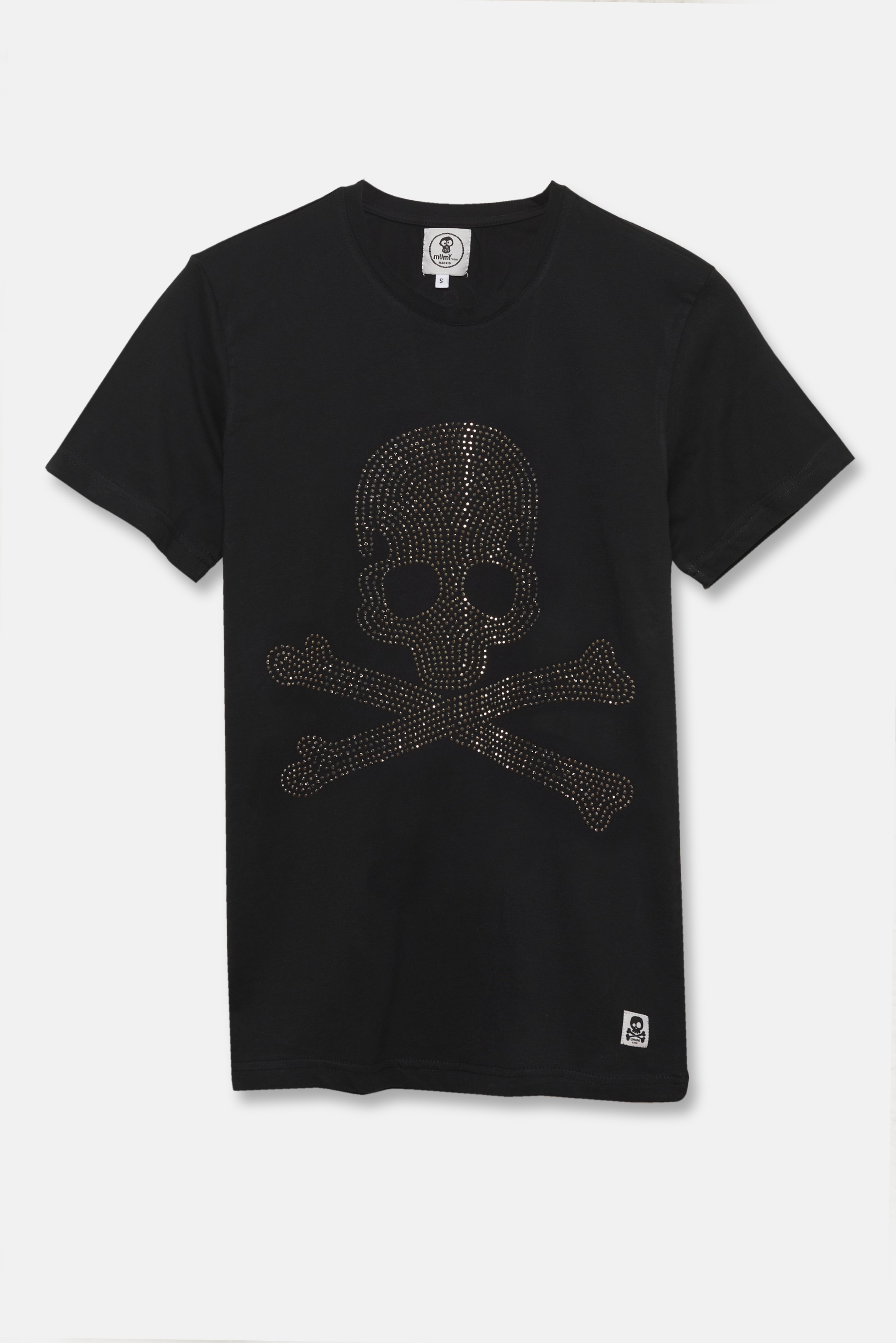 ADULT'S PRINTED SKULL DOTS IN BLACK