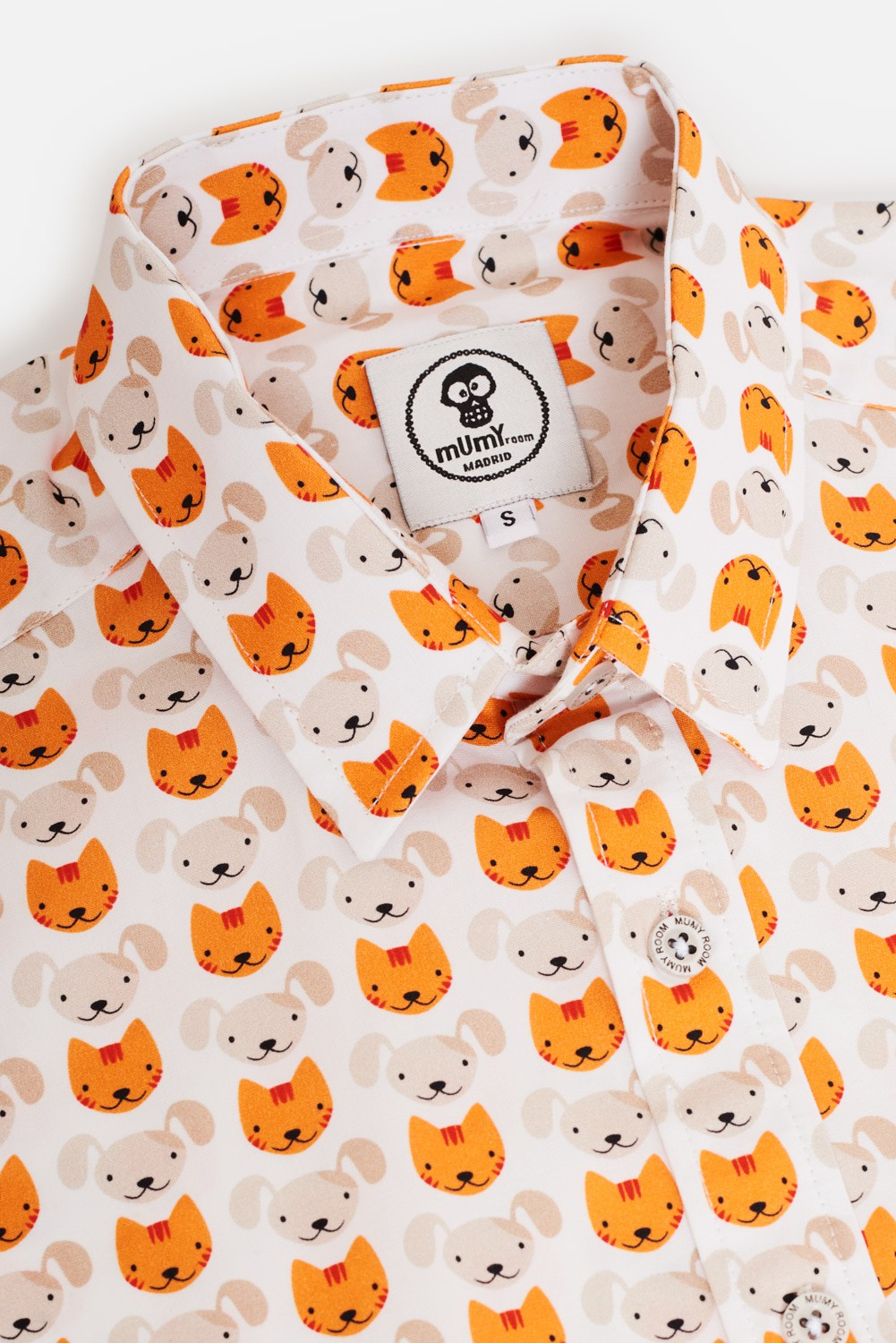 CAMISA ESTAMPADA DE NIÑO CAT-DOG-CAT