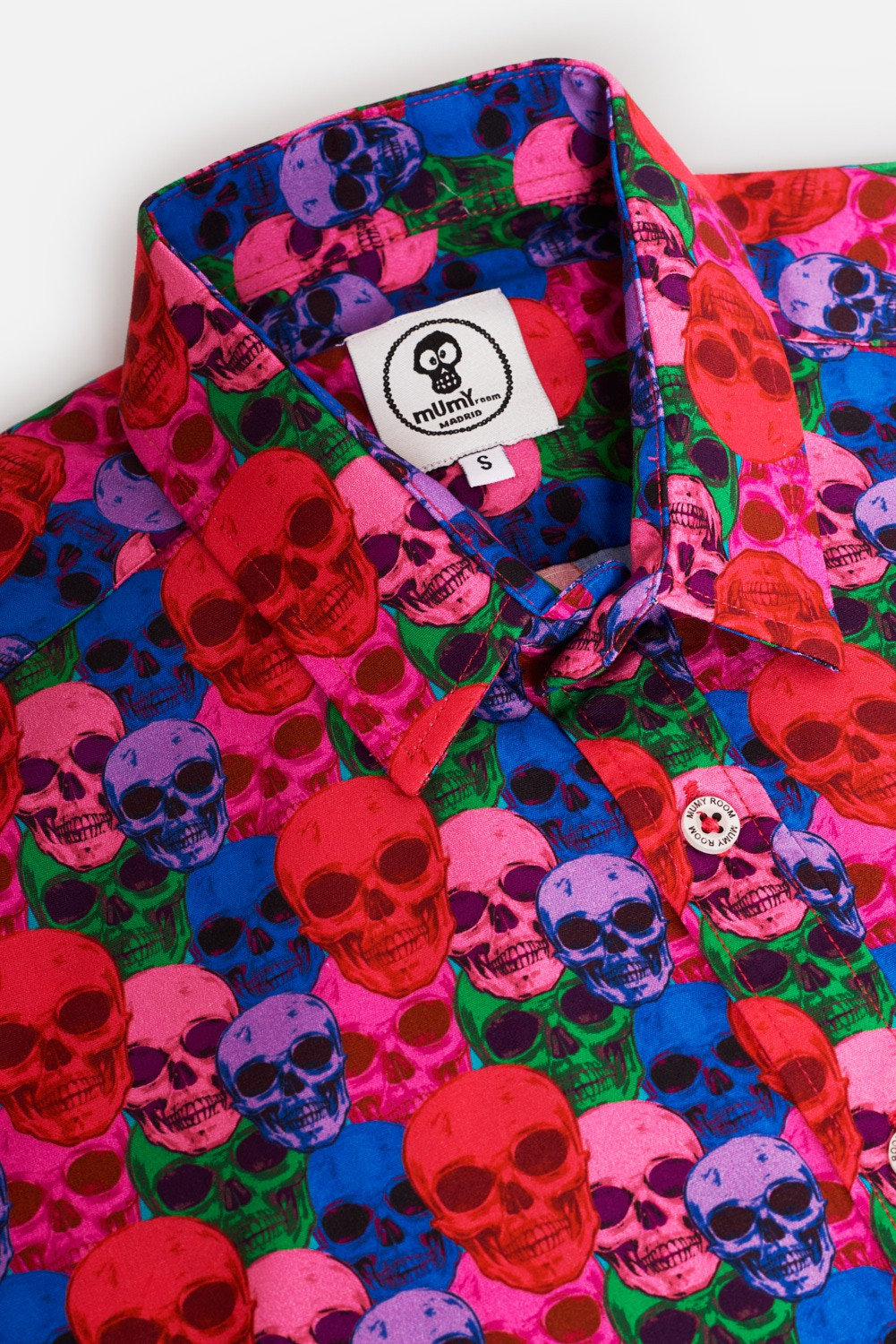 KID'S PRINTED SHIRT POSITION COLORED SKULL
