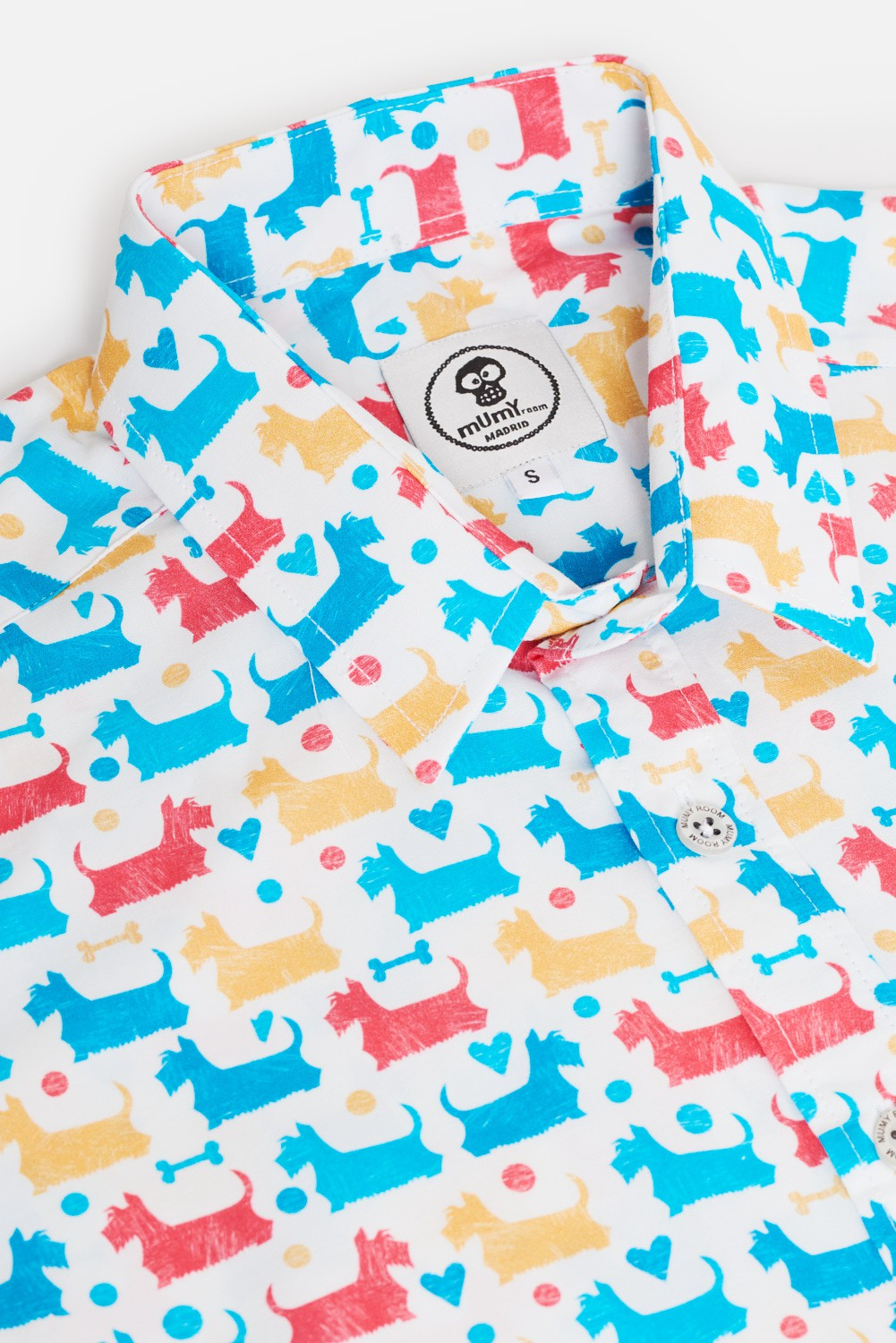 KID'S PRINTED SHIRT COLORED SCOTTISH TERRIER
