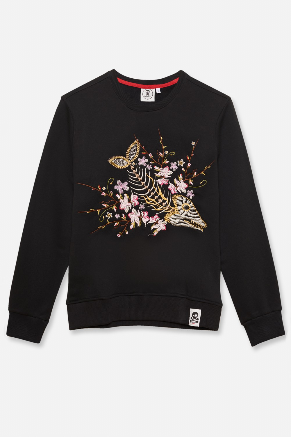 KID´S EMBROIDERED JERSEY UMAMI LINE FISHKELETON