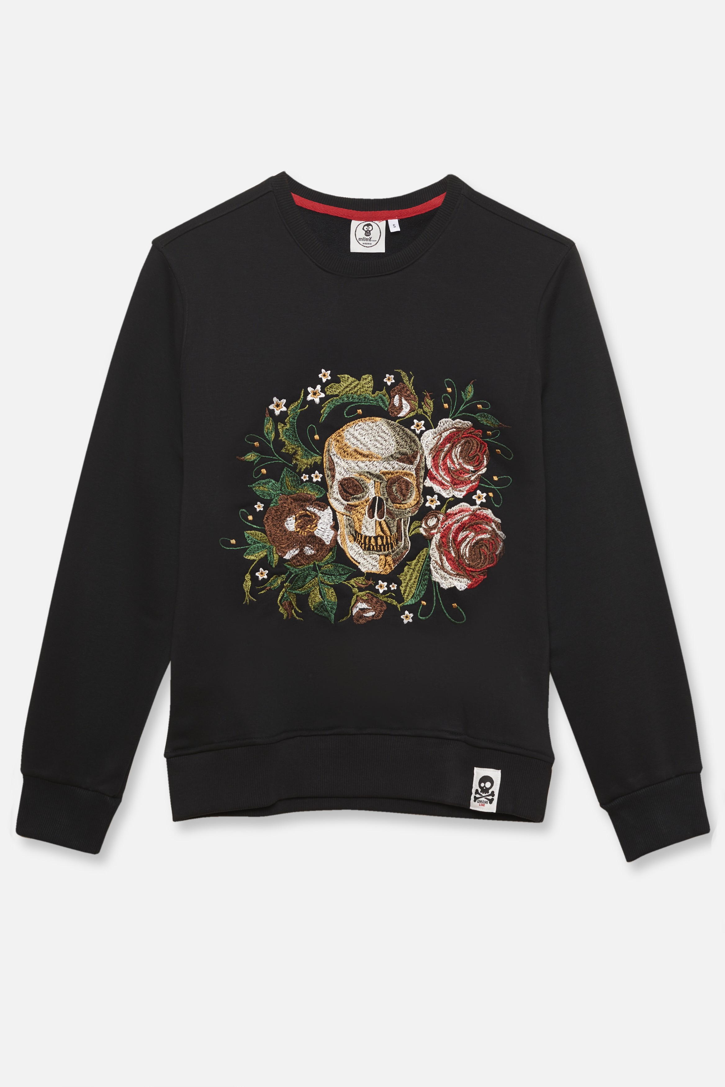 KID´S EMBROIDERED JERSEY UMAMI LINE SKULL AND THREE ROSES