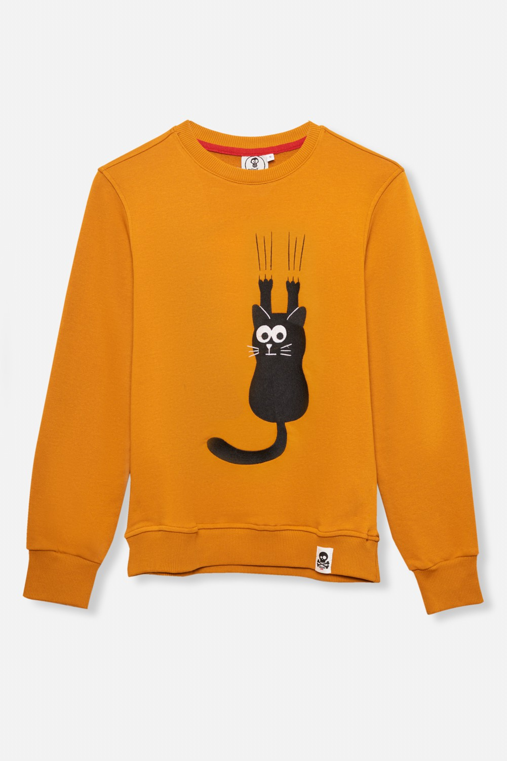 ADULT´S EMBROIDERED JERSEY UMAMI LINE SCRATCH CAT