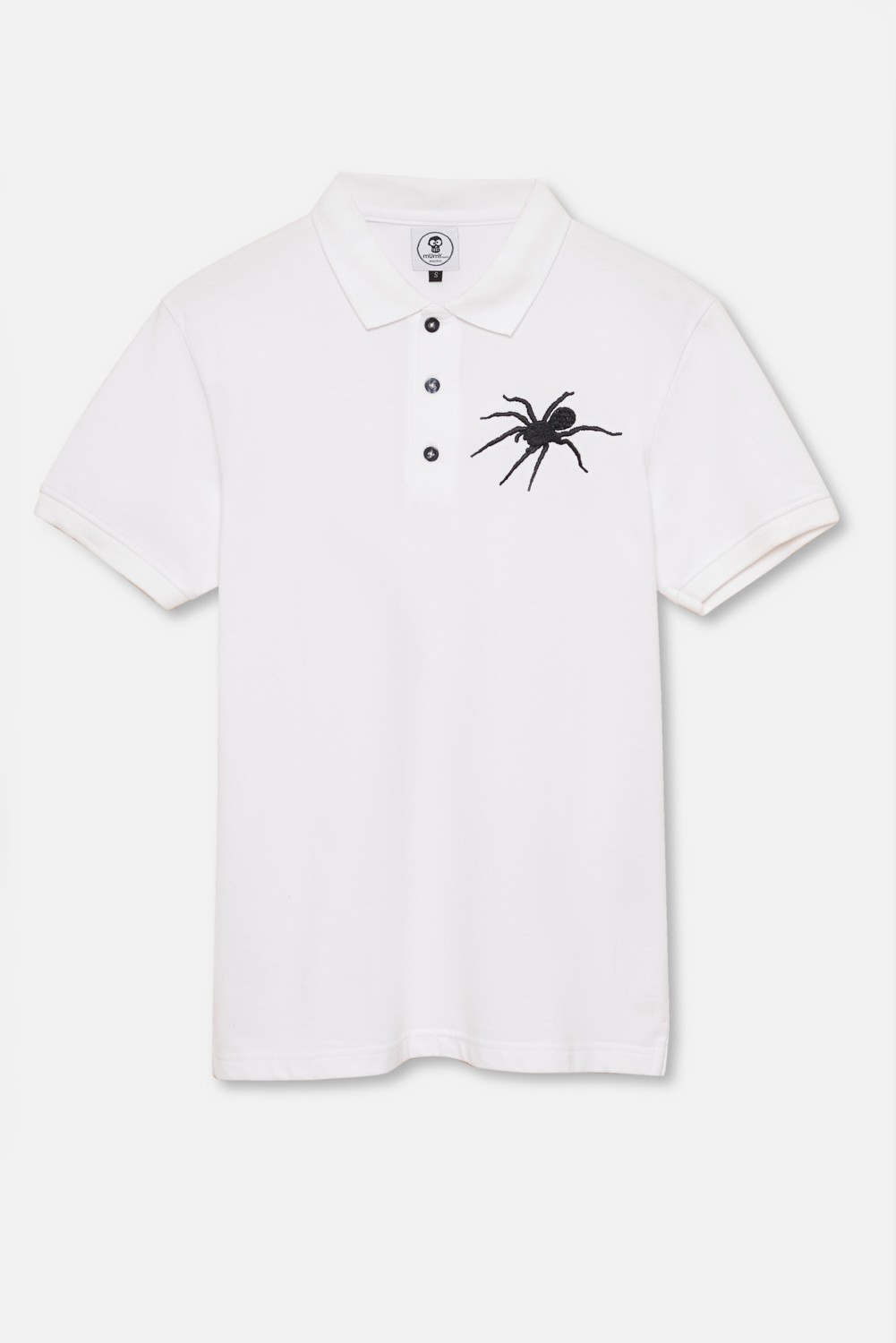ADULT´S EMBROIDERED POLO SPIDER IN WHITE