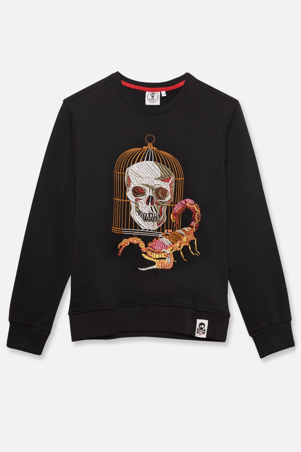 ADULT´S EMBROIDERED JERSEY UMAMI LINE SKULL AND SCORPION