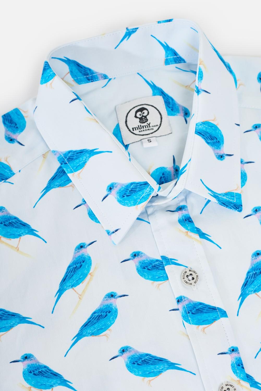 CAMISA M/L UMAMI DE NIÑO BLUE BIRDS