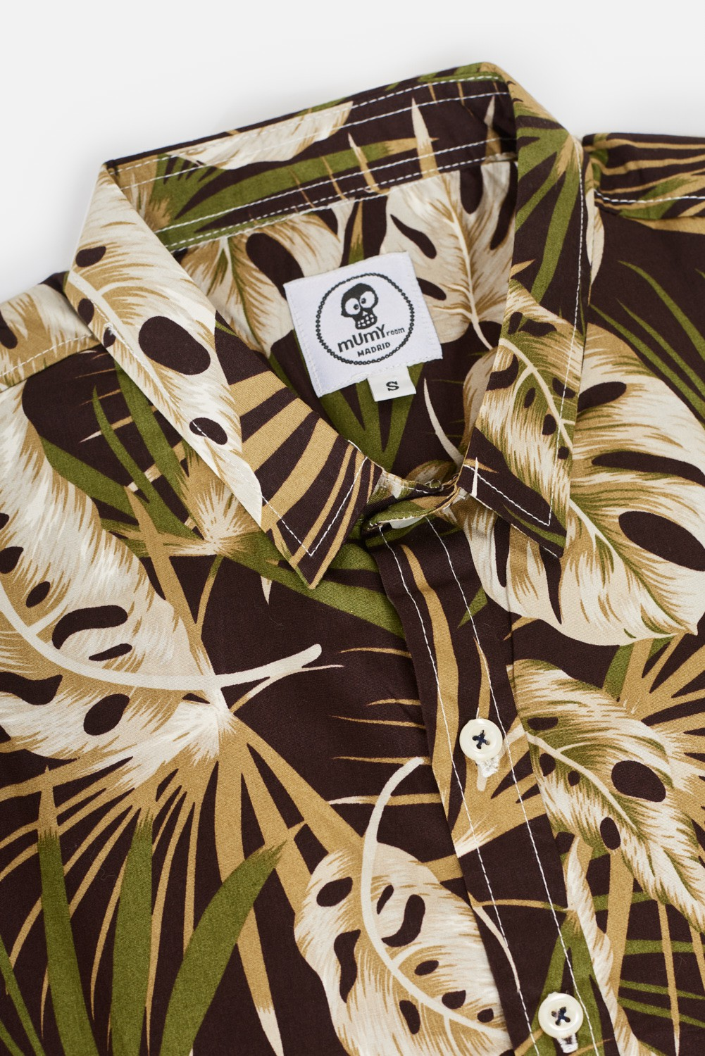 ADULT´S PRINTED SHIRT MUMY BROWN FERNS