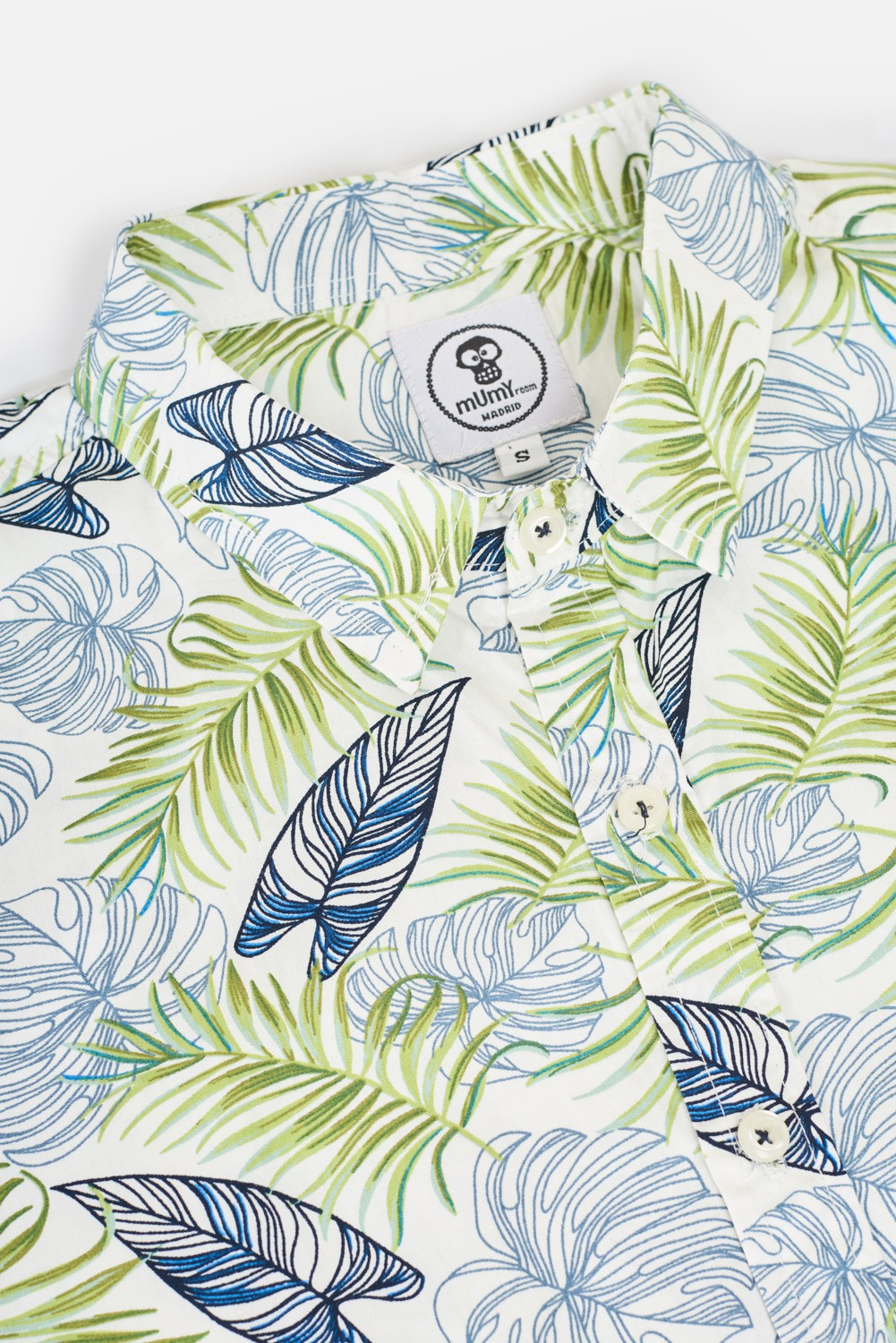 ADULT´S PRINTED SHIRT TROPICAL LEAVES