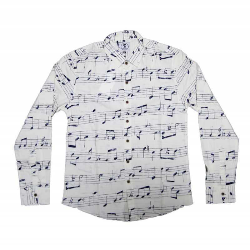 Camisa Notas Musicales Mumy Room