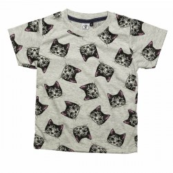 CAMISETA CARA GATOS