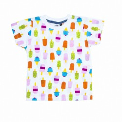 CAMISETA NIÑO HELADOS COLORINES